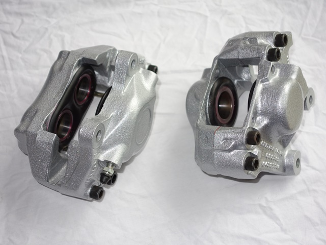 Completed front and rear main calipers