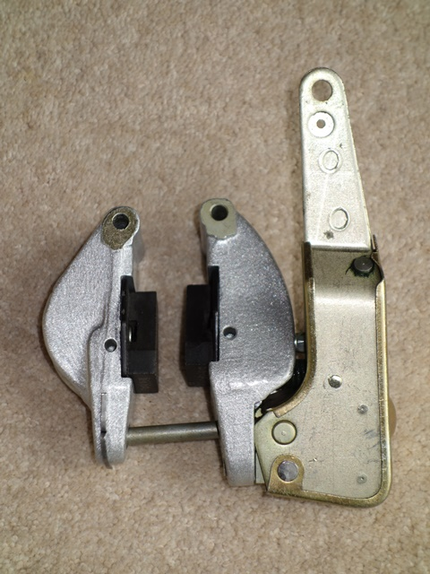 The completed handbrake mechanisms awaiting fitting
