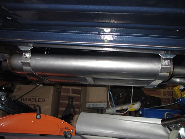 The muffler section fitted fine .... until the resonator pipe were mounted which caused it to rise at the rear
