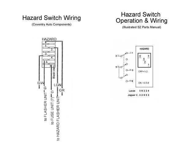 electrics restoration of nnf 10h hazard wiring diagram hazard switch wiring