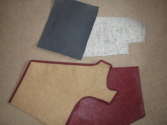 The Koolmat at the top is woven glass fibre covered with a grey cured silicone. Below is the type of fibrous trim backing that needs to be bonded to the silicone side