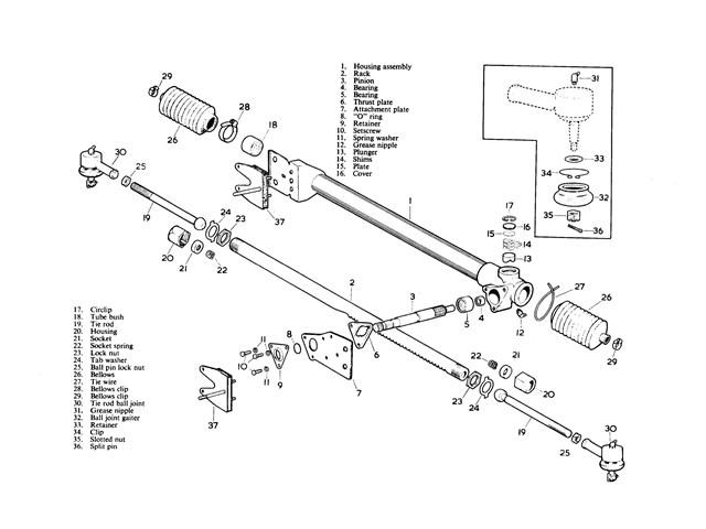 rack001 rack and pinion steering systems on alternator wiring diagram