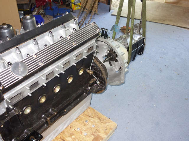 Supporting the gearbox with the engine hoist made the job much easier