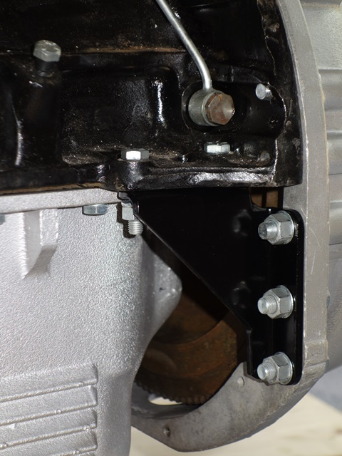 Fitment of the bellhousing support bracket is needed before it can take the full weight of the gearbox