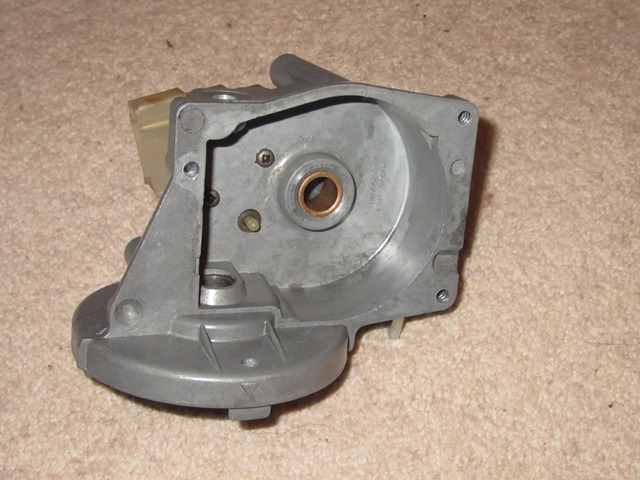 The parking switch is attached by two setscrews from inside the gearbox housing. Note the switch plunge which operates when the wipers return to their normal rest position
