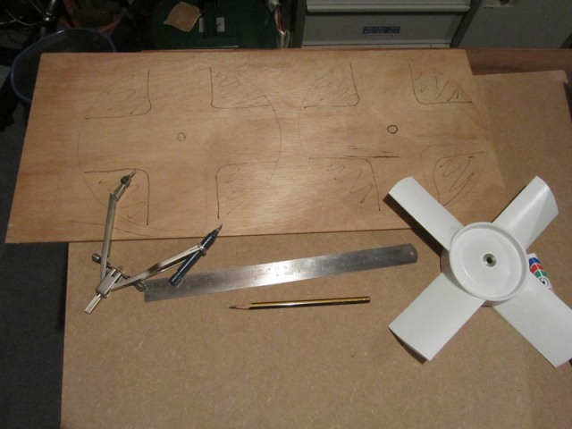 6mm ply was used to fabricate templates to trim off the excess