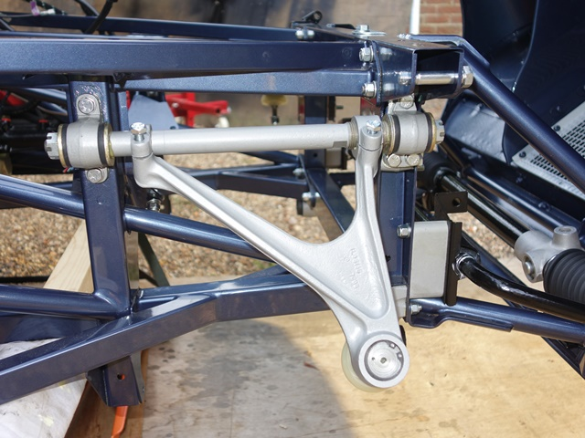 The upper wishbones were fairly easy to install as they simply bolt on