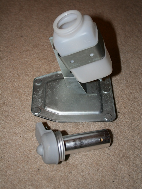 Brake Servo reservoir showing the aluminium shroud around the float